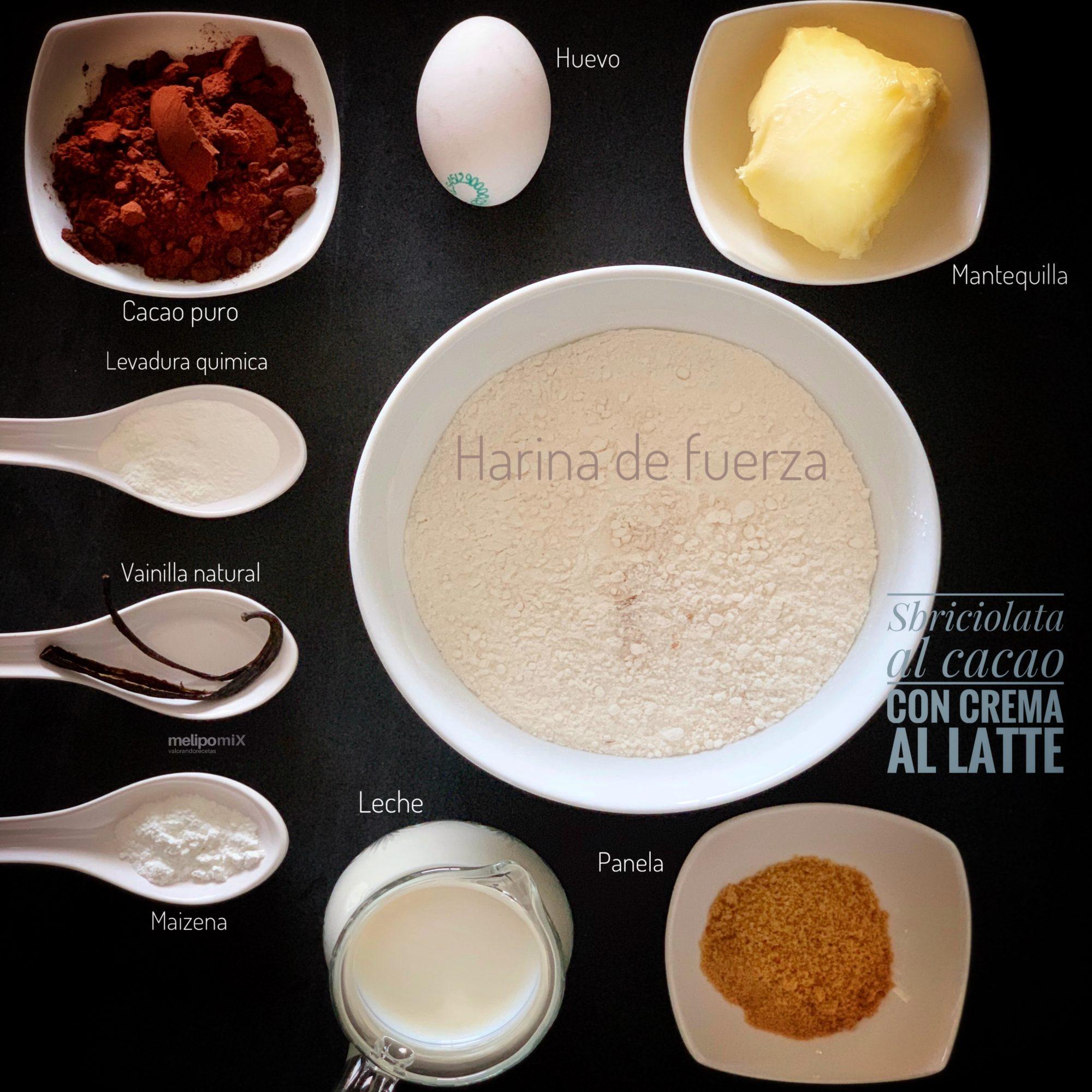 Sbriciolata al cacao con crema al latte
